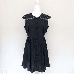 ASOS Black Dress with Scalloped Collar | 2901